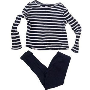 Stripe Long Sleeve Matching Pants Outfit 5T